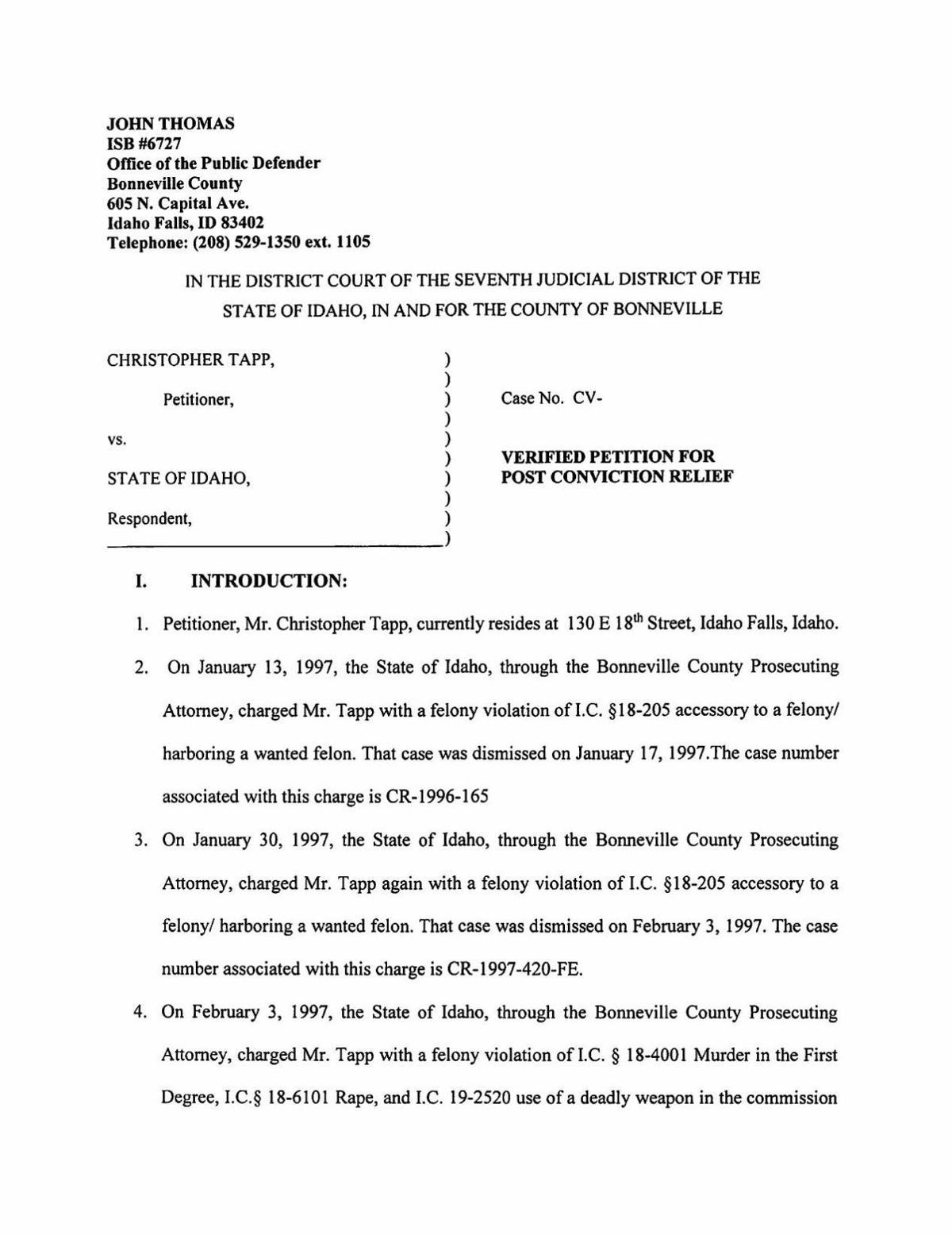 Tapp's motion for exoneration