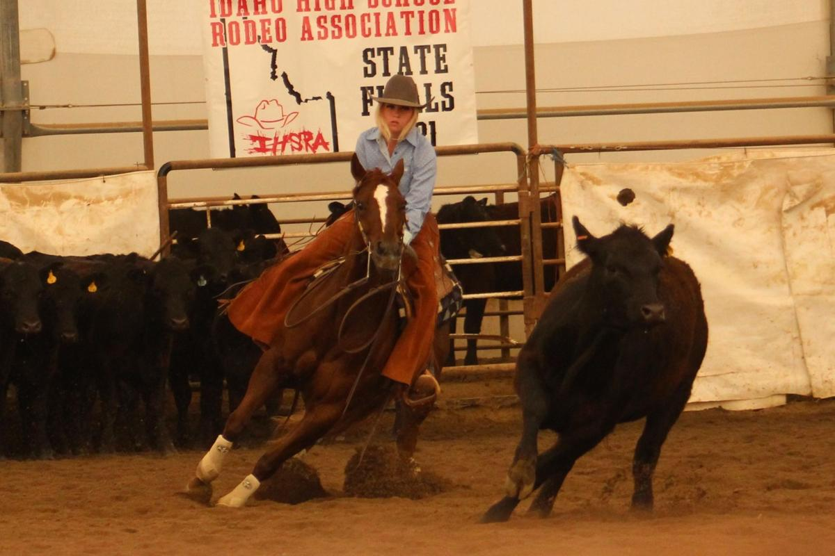 HIGH SCHOOL STATE RODEO: Girls' cow cutting title claimed by Brenna Brown