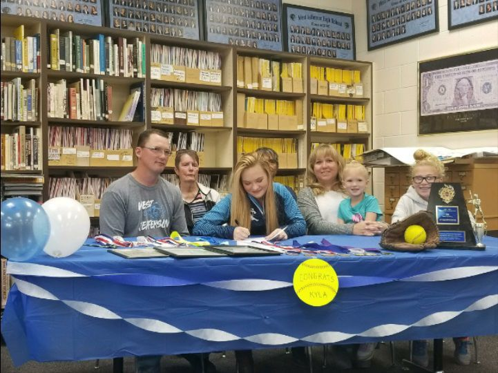West Jefferson's Kyla Johnson signs to play softball at Miles Community College
