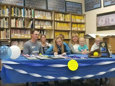 West Jefferson pitcher Kyla Johnson signs her letter of intent