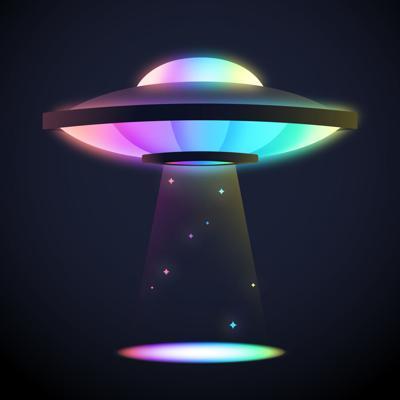 Rainbow UFO Light Beam