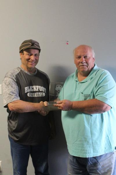 Blackfoot's retiring Head Football Coach Stan Buck receives career coaching award