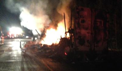 tractor trailer fire
