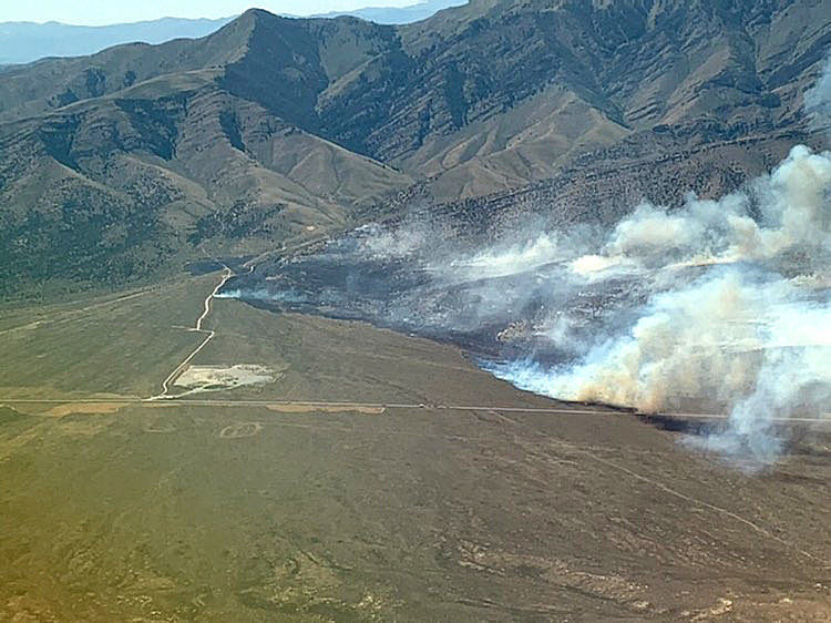 BLM crews working 1st nearby wildfire