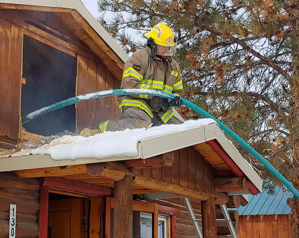 Chimney fire prevented from spreading