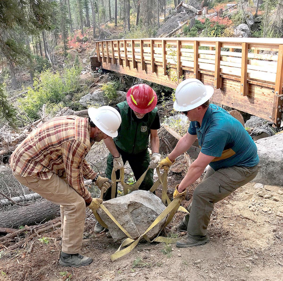 Redfish Lake Creek bridge replaced