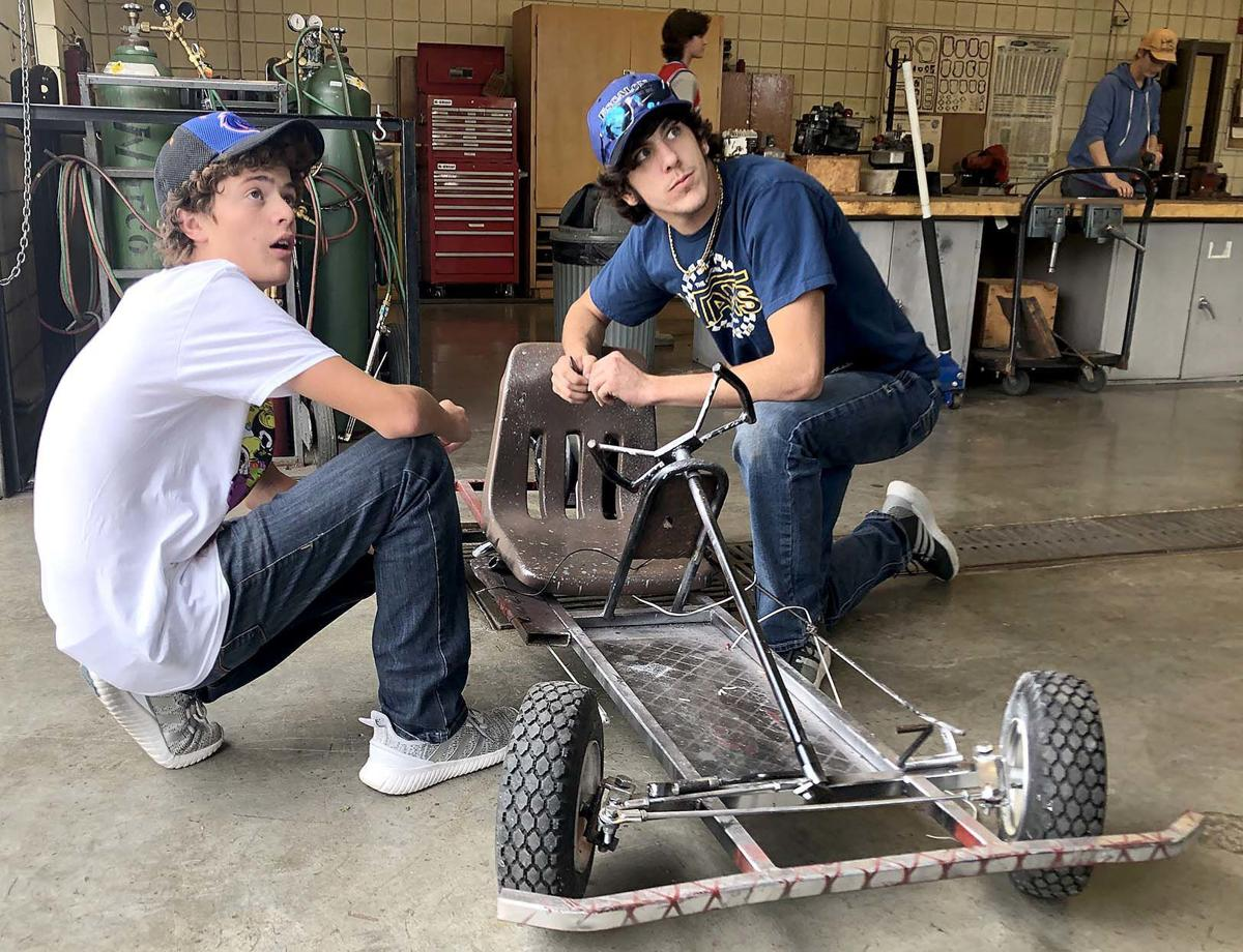 Welding students keep projects rolling