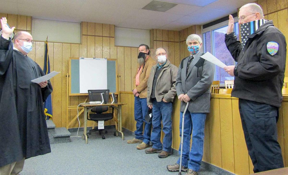 County officials sworn in Monday