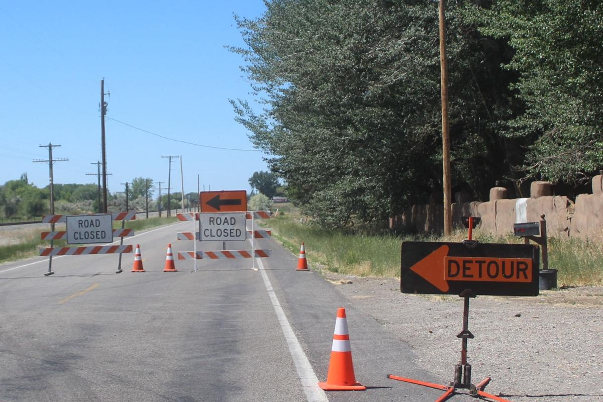 HIGHWAY 91 CLOSED FOR CANAL WORK