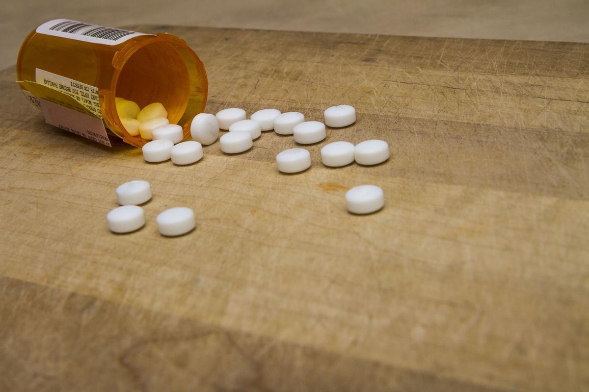 bottle of spilled pills