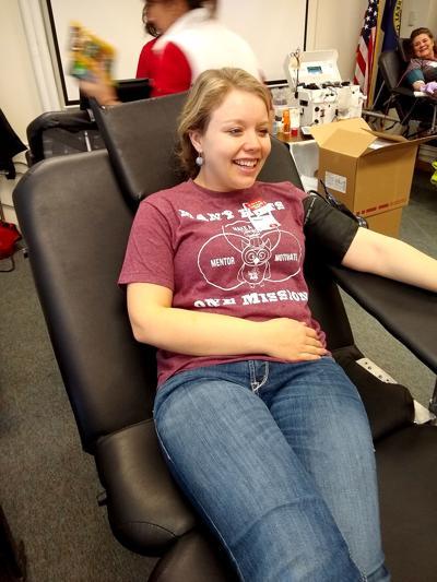 Amber Bucknell Mackay FFA blood drive 2.5