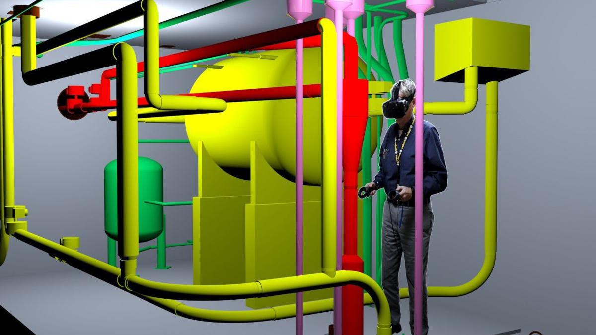 Fluor using virtual reality in cleanup training