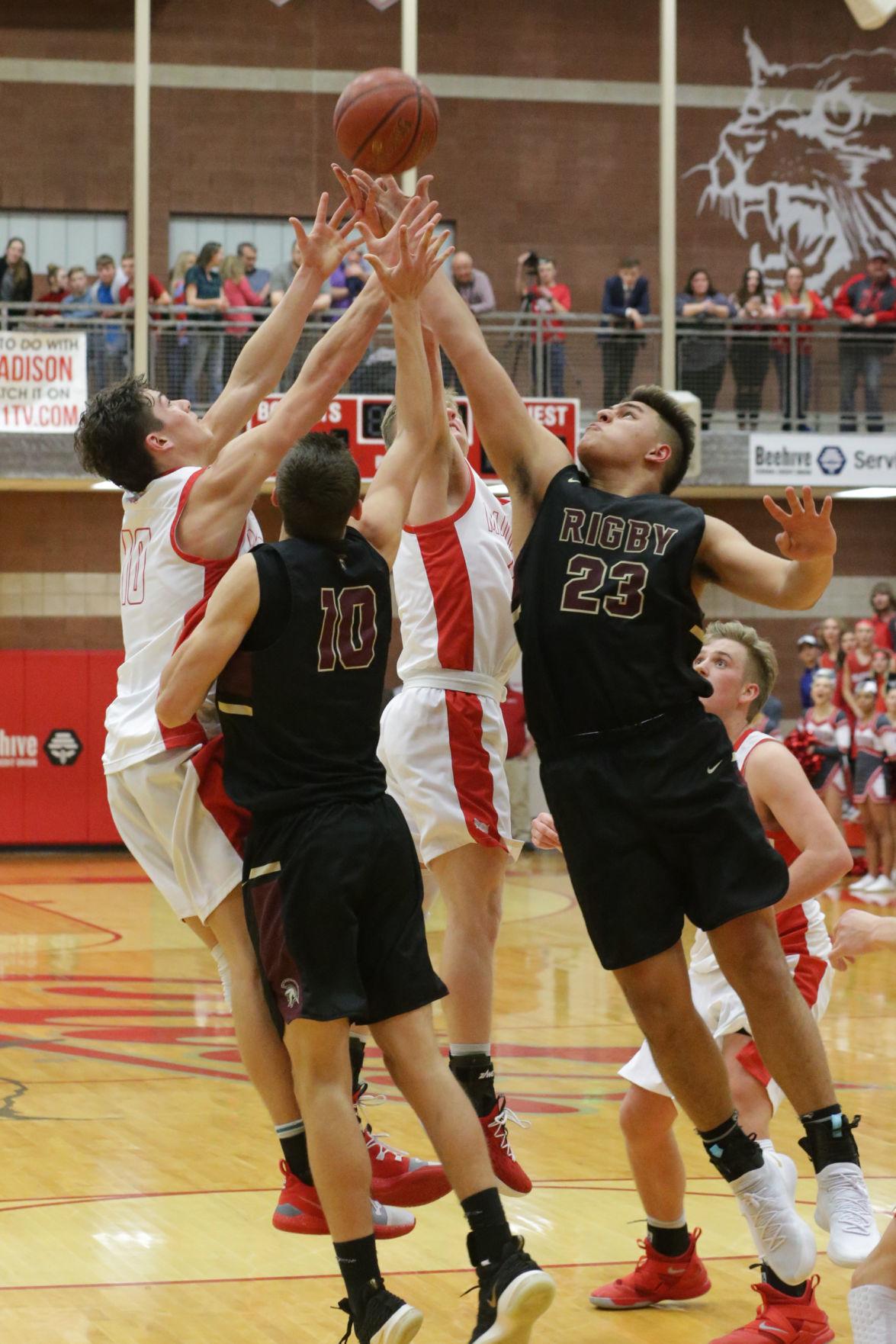 Madison vs Rigby boys basketball