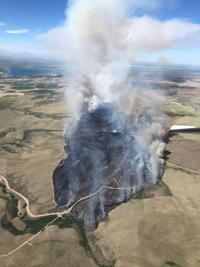 Evacuations underway as two blazes burn in East Idaho