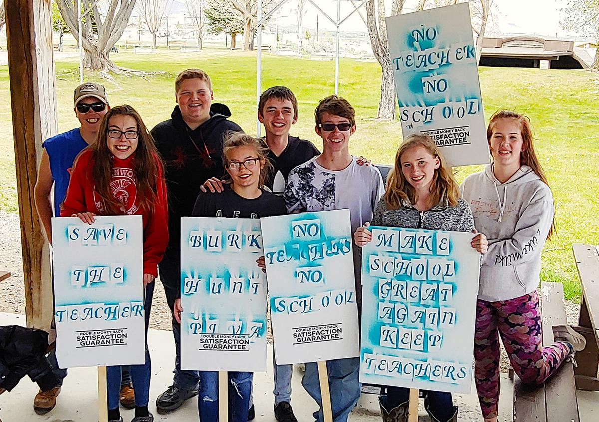Students, parents protest after 2 teachers not rehired
