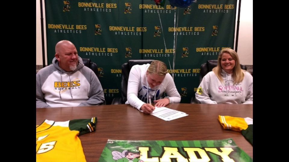 Bonneville's Radford signs to play softball at Miles Community College