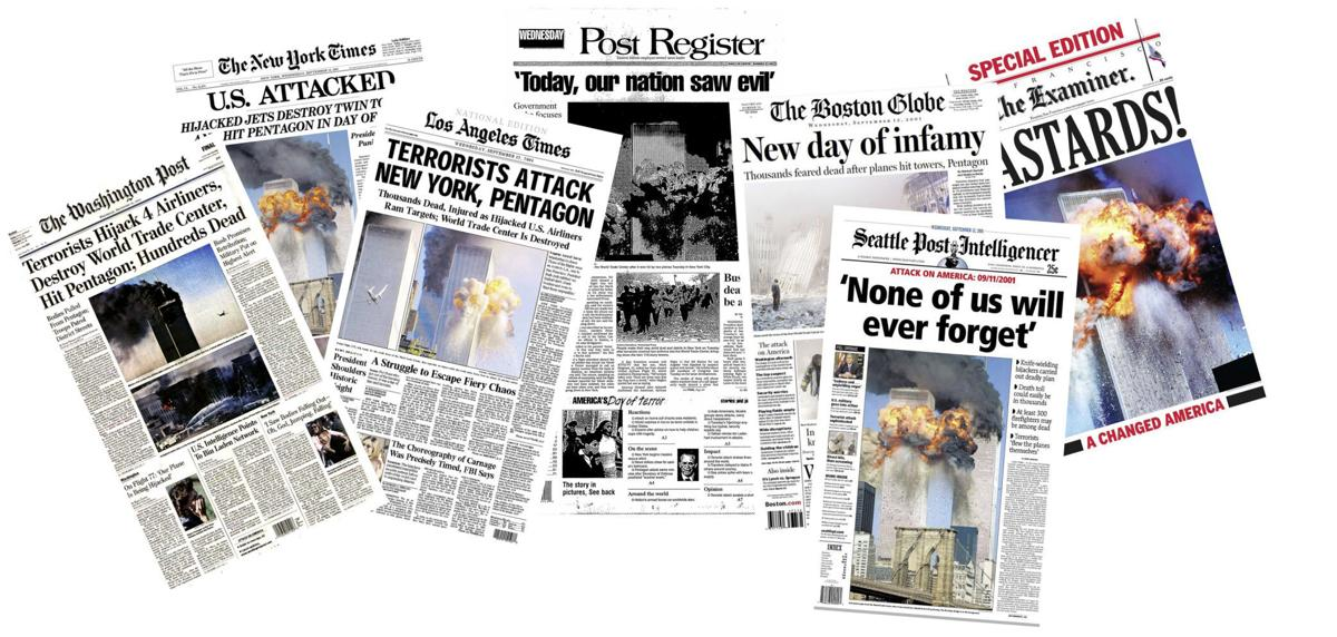 newspaper covers from September 12 2001