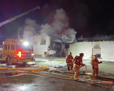 Fire at Moody Creek Produce