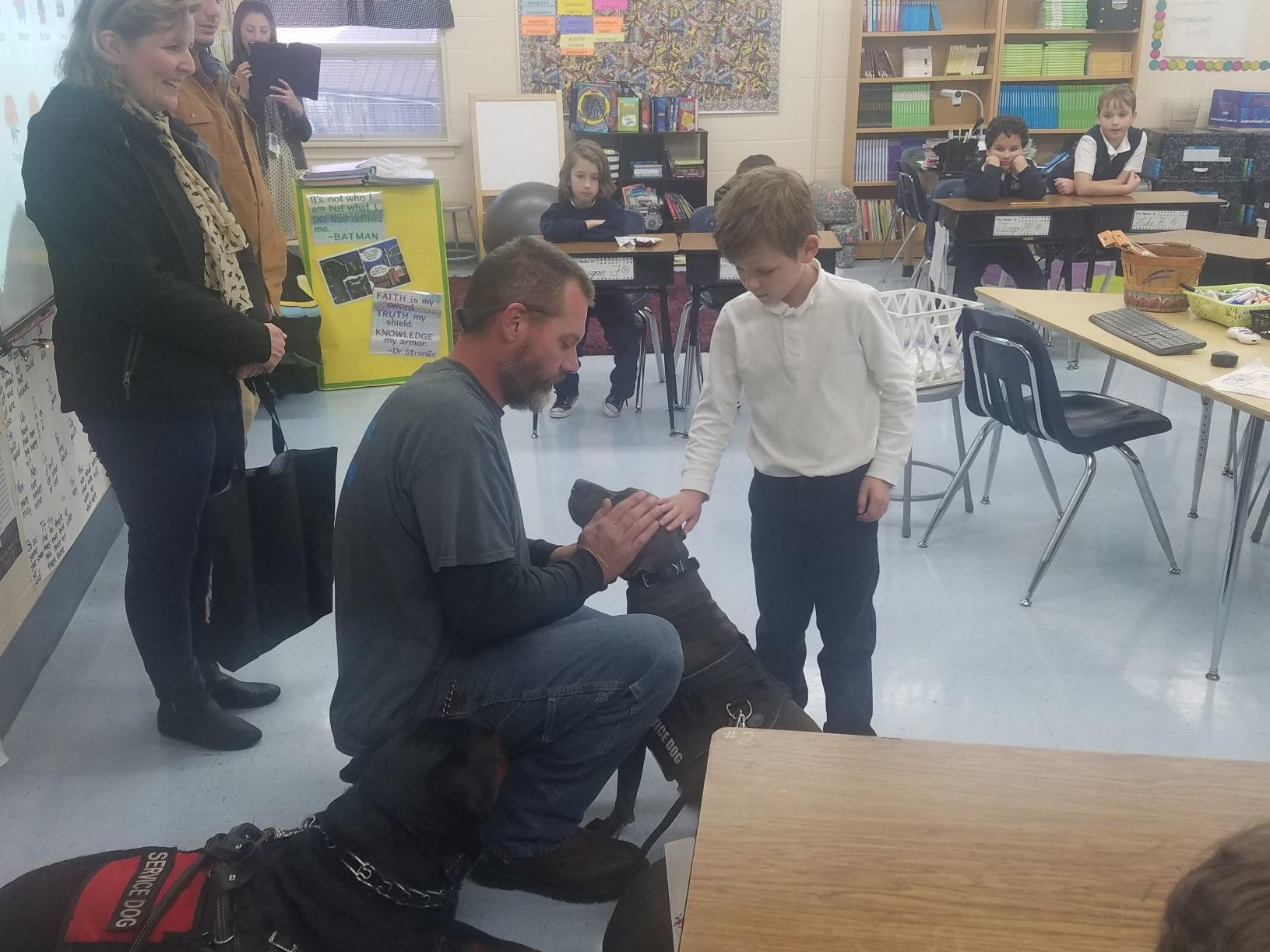 Holy Rosary Students Meet Service Dogs At End Of Service Drive Local News Postregister Com