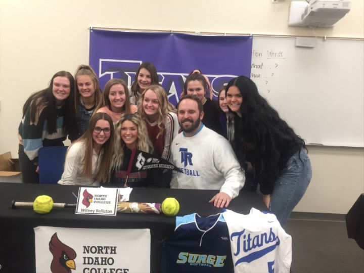 Thunder Ridge's Belliston signs with North Idaho College softball