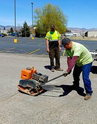 Pothole season has city crew out patching