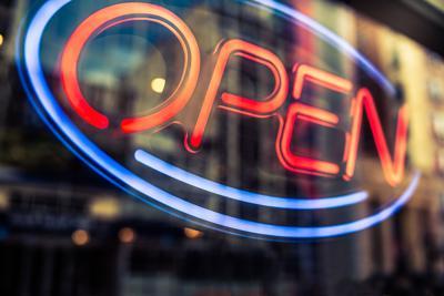 Open sign for Shoptalk online