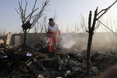 APTOPIX Iran Plane Crash