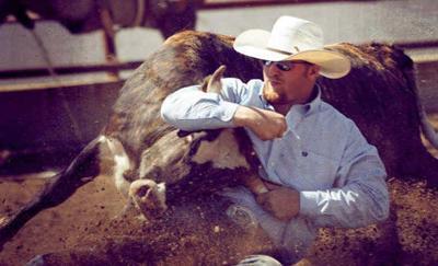 Blackfoot native Stetson Jorgensen at the National Finals Rodeo