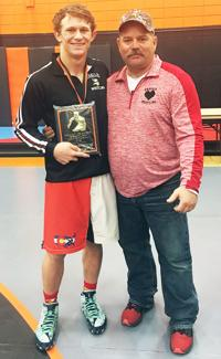 Erickson named top wrestler in Malad