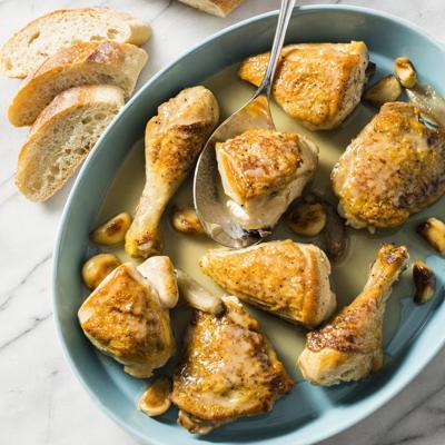 Food Column ATK Chicken With 40 Cloves Of Garlic