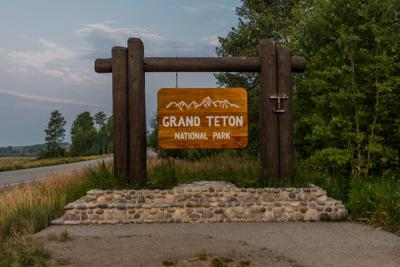 Grand Teton National Park Sign