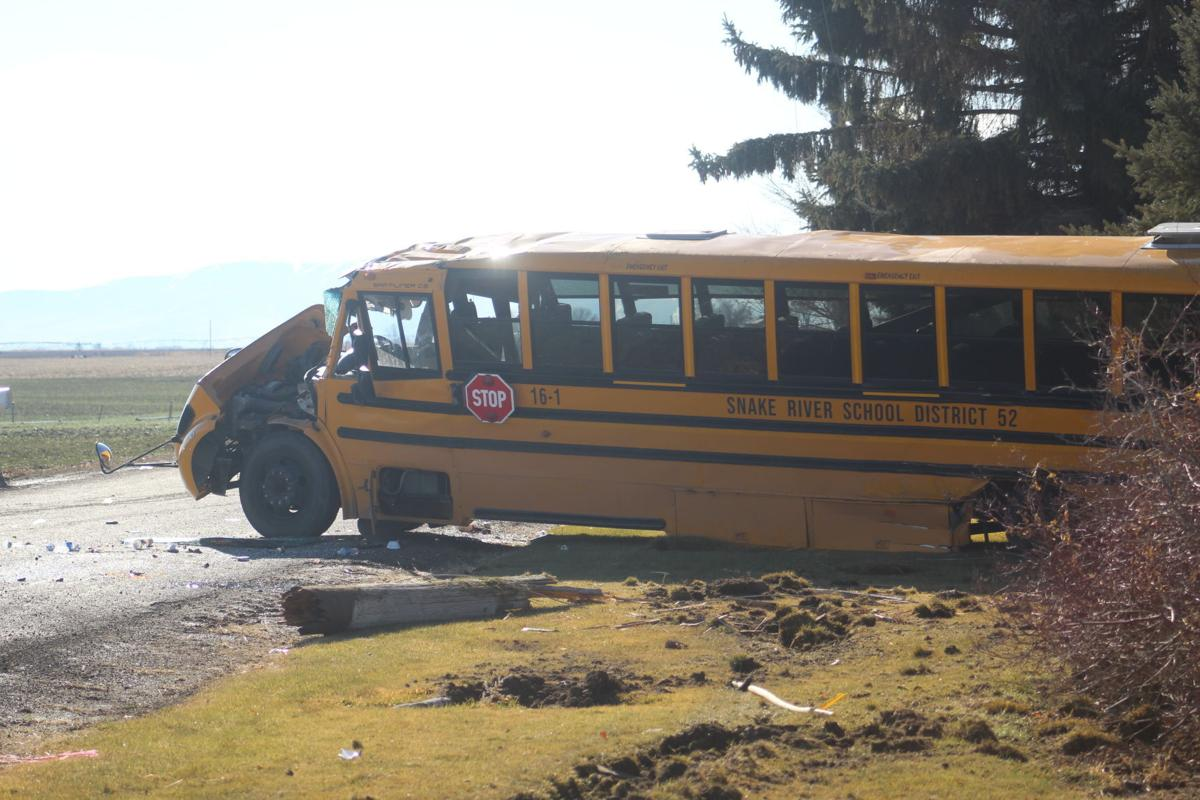 Accident total Snake River School District bus
