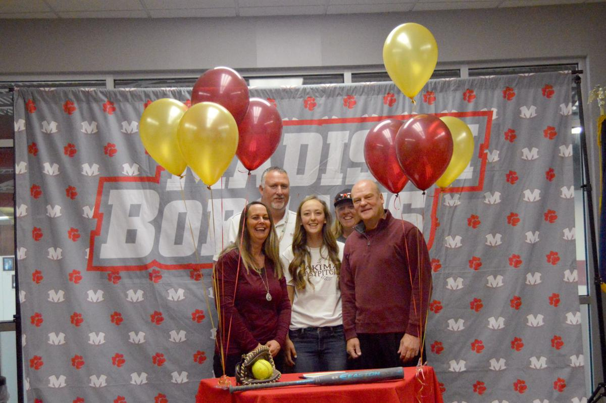 Madison softball player Karly Hanosky signs with Yakima Valley