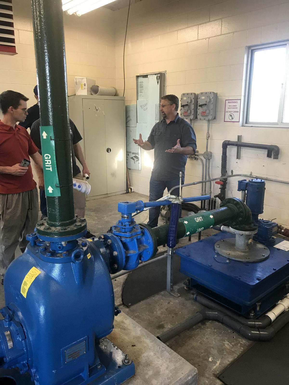 Rigby City Council tours wastewater treatment facility