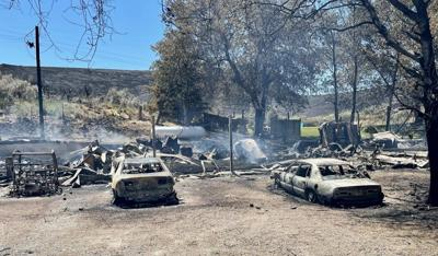 Brad Huse Sunbeam Home destroyed from Cold Creek Fire