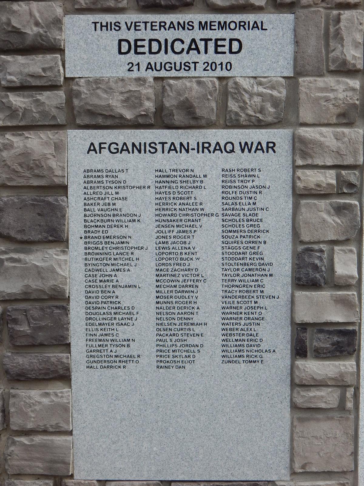 Dan Boomgaarden (Afghan-Iraq)