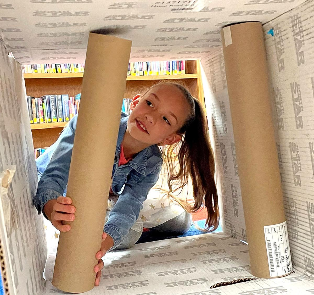 Challis library fosters creativity with cardboard