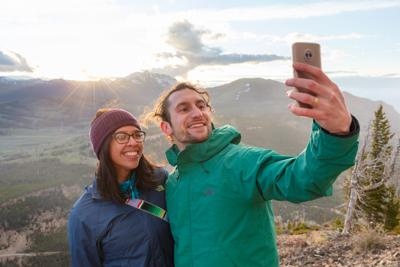 Summit selfie on Bunsen Peak