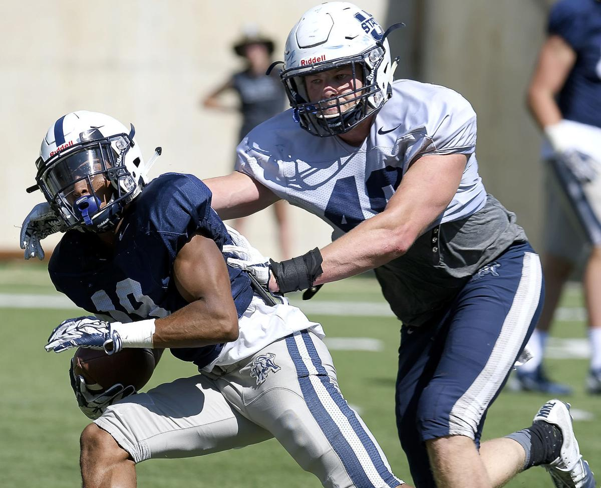Offense shines at Utah State football practice