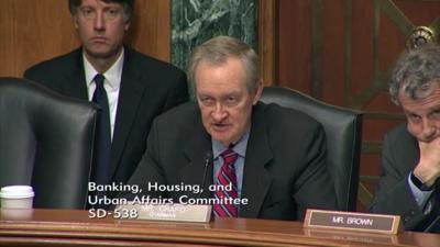 Crapo screenshot cannabis banking hearing