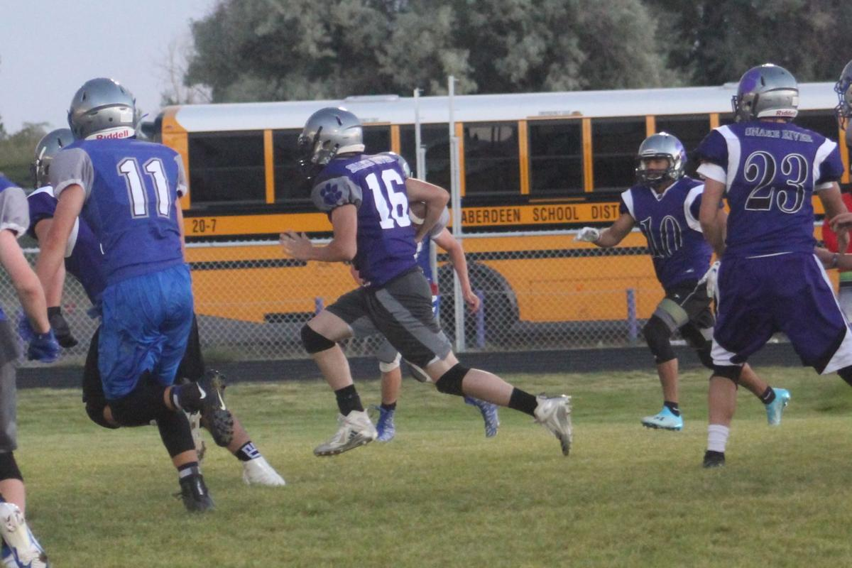Panthers hold Football Camp scrimmage
