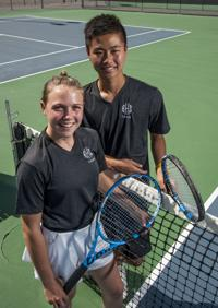 Post Register All-Area doubles Team of the Year: Claire Anderson and Steven Huang, Blackfoot