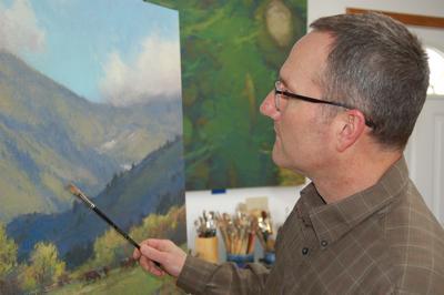 Ken Spencer painting
