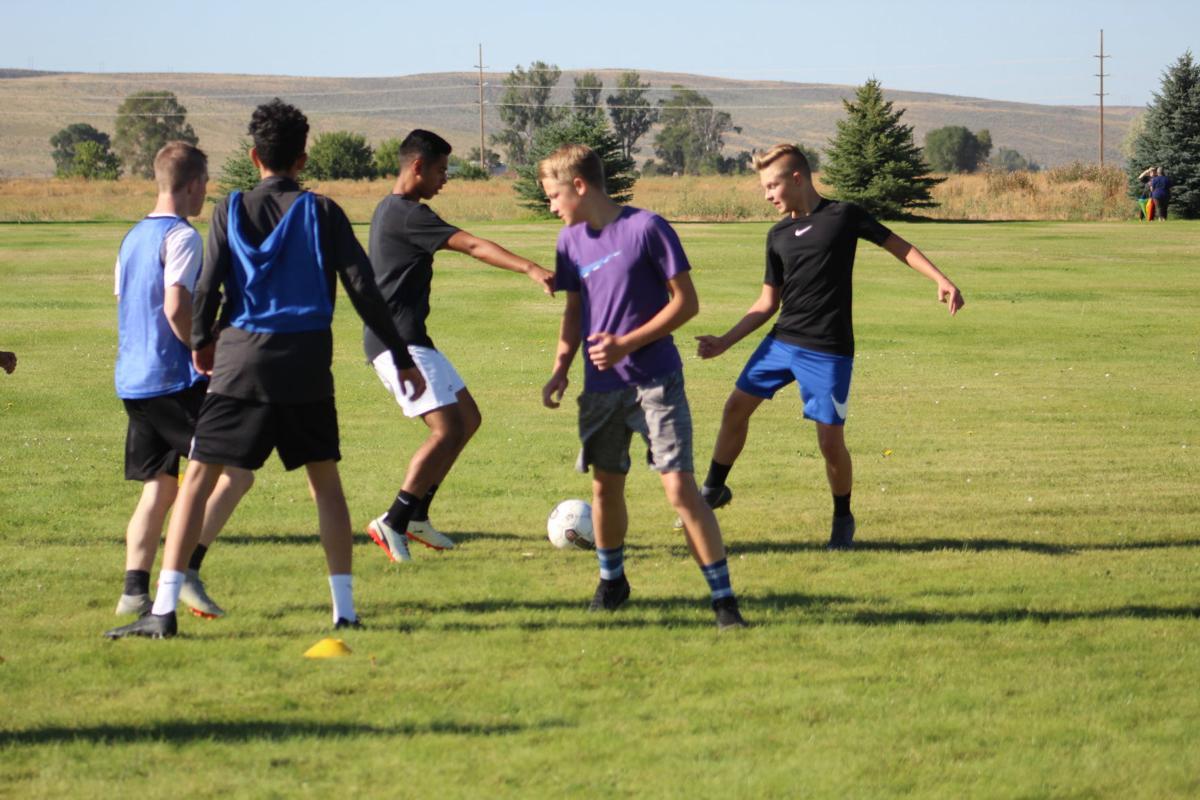 BHS Broncos open soccer practice