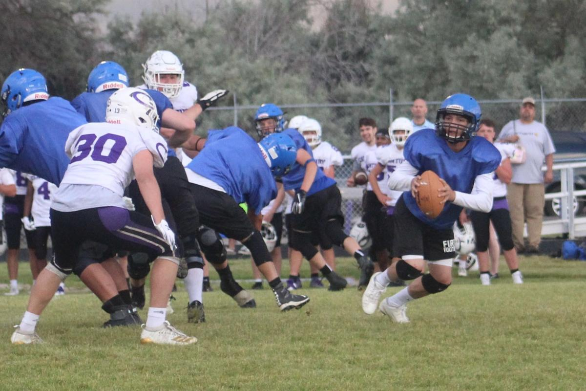 Scrimmage concludes Snake River Varsity Football Camp