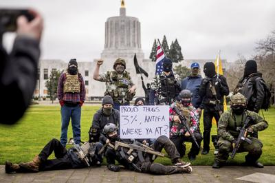 Capitol Breach Demonstrations Oregon