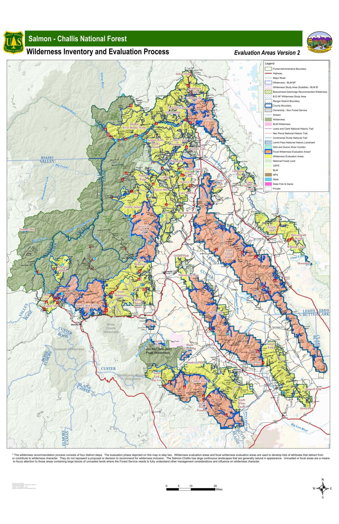 Salmon-Challis National Forest Wilderness Inventory and Evaluation Process