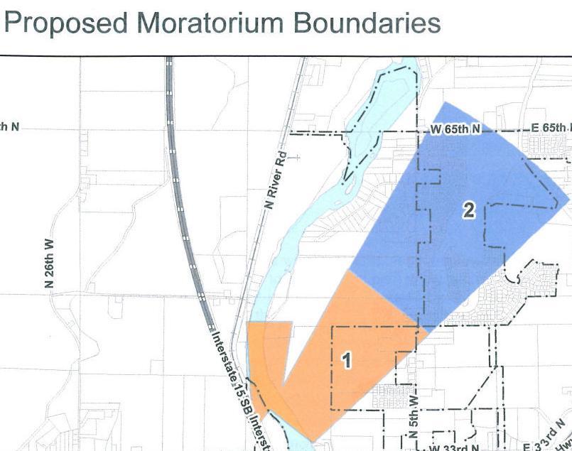 City to consider building moratorium on land near airport