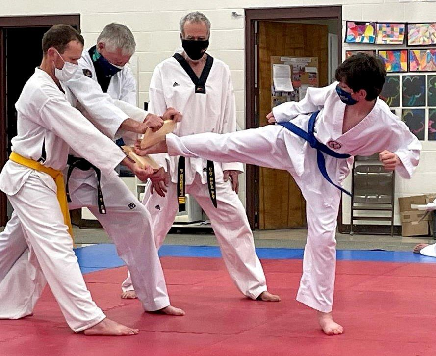 Stanley tae kwon do students advance levels