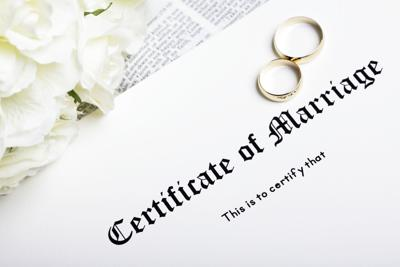 Rings and Marriage Certificate